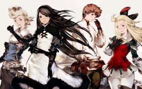 The four heroes of Bravely Default.