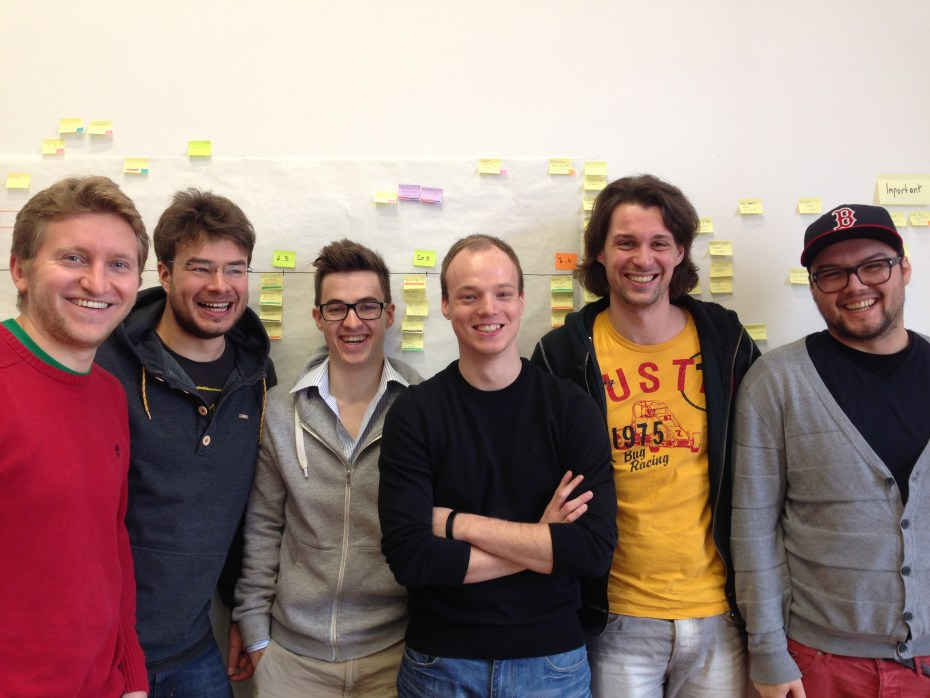 Codeship chief executive Mo Plassnig, third from left, with the rest of the Codeship team.