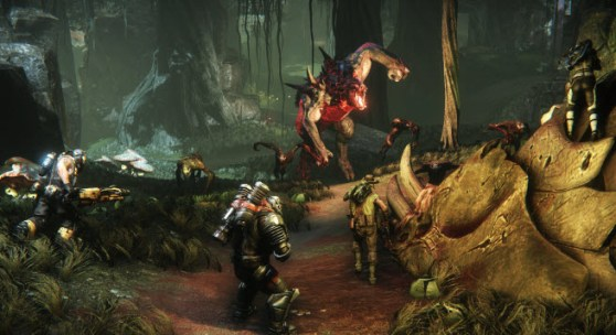 Monster prepares to charge in Evolve