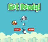 The Flappy Bird start screen.