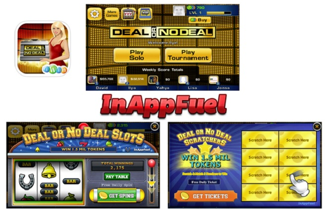 InAppFuel powers mini games in Deal or No Deal