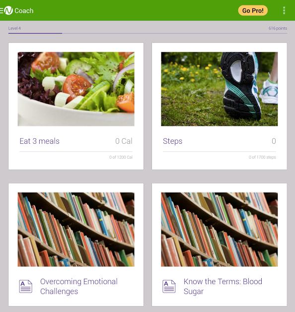 Screenshot of Noom Weight Loss Coach app.