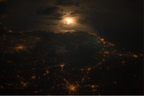 Turin, Italy, from space.