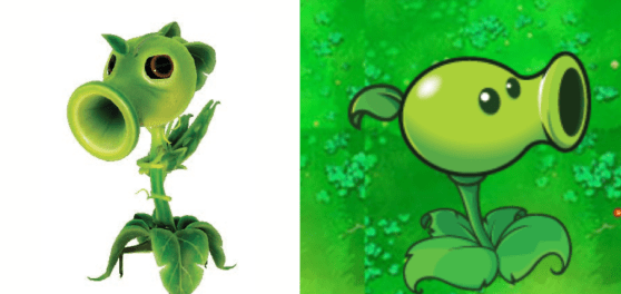Plants vs Zombies Garden Warfare Peashooter Comparison