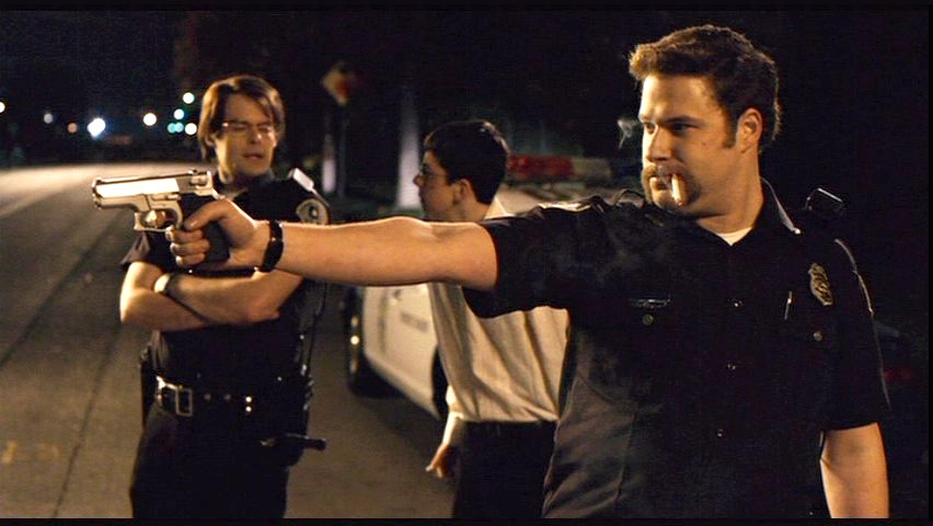 Seth Rogen in Superbad, which he co-wrote with Evan Goldberg.