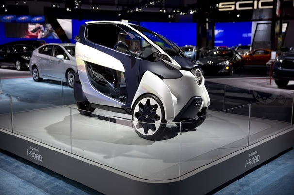 Toyota iRoad at the Washington Auto Show