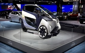 Toyota iRoad at the Washington Auto Show