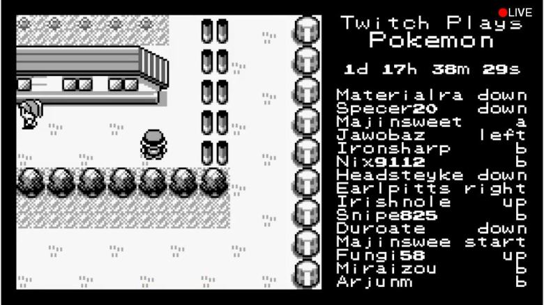 Twitch working together to play a game of Pokémon.