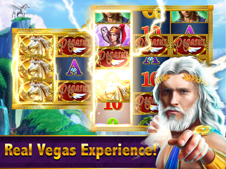 Zynga's Riches of Olympus slots game for iOS.