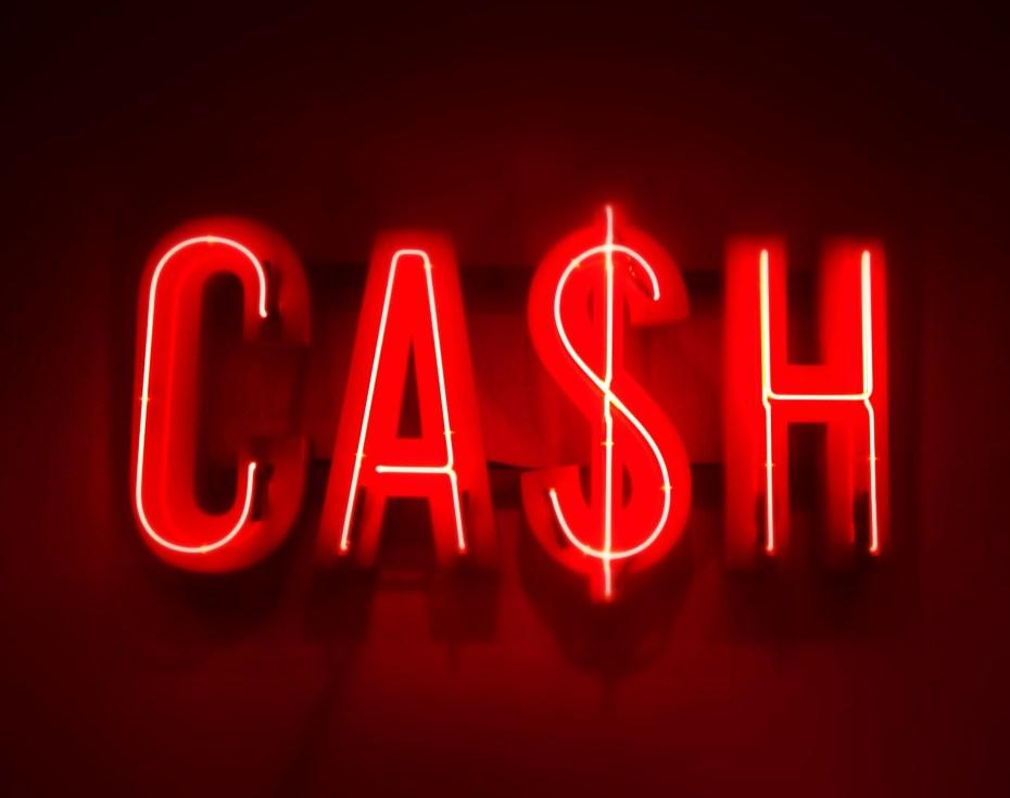 """Cash"" Neon Sign"