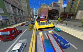 Crazy Taxi: City Rush in action for the iPad.