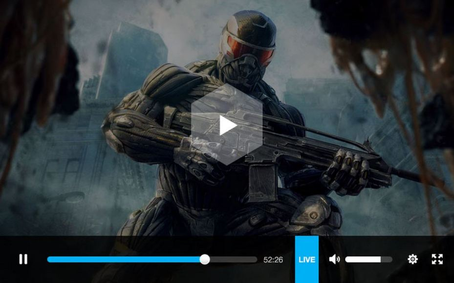 Gaming Live's broadcast video player.