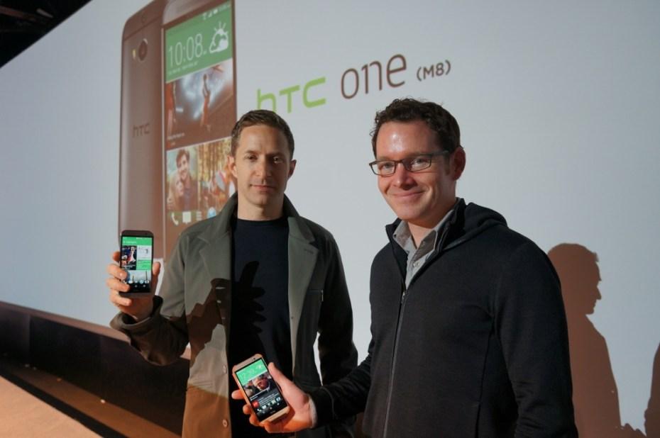 HTC associate VP of design Jonah Becker (left), and lead software designer Drew Bamford (right)
