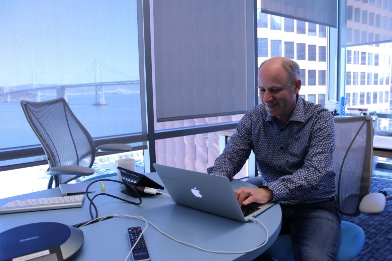 New Relic founder and chief executive Lew Cirne at company headquarters in 2014.