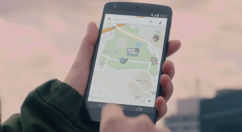 Find all 150 Pokemon using the Google Map app.