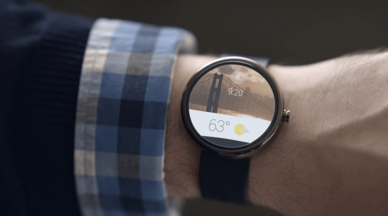 A potential smartwatch featuring Android Wear.