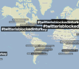 Usage of the #twitterisblockedinturkey hashtag according to Trendsmap