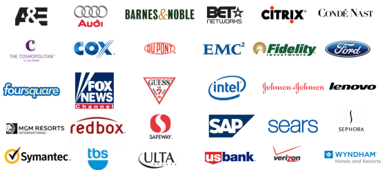 Some of the brands presenting at Adobe's marketing summit