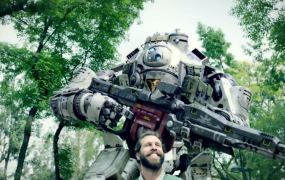 A shot from the new live-action commercial for Titanfall.