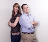 Wevorce's Michelle Crosby with cofounder Jeff Reynolds