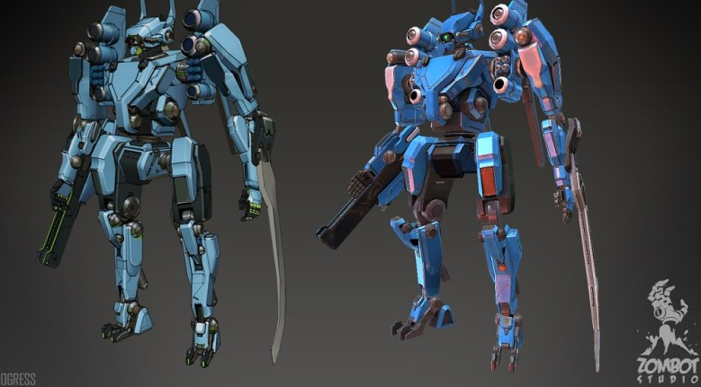 Zombot Studio art featues mechs.