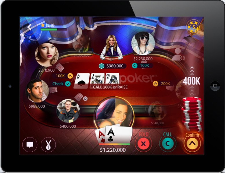 Zynga Poker's new table look