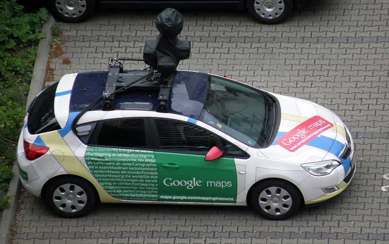 Google's street view car, which powers Google Maps.