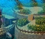 This interpretation of Aerith's house from Final Fantasy VII is from DeviantArt user albertdevi.