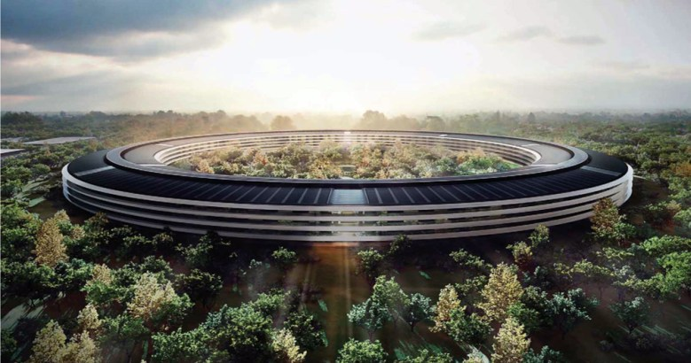 A rendering of Sir Norman Foster's design for Apple's new headquarters in Cupertino, Calif.
