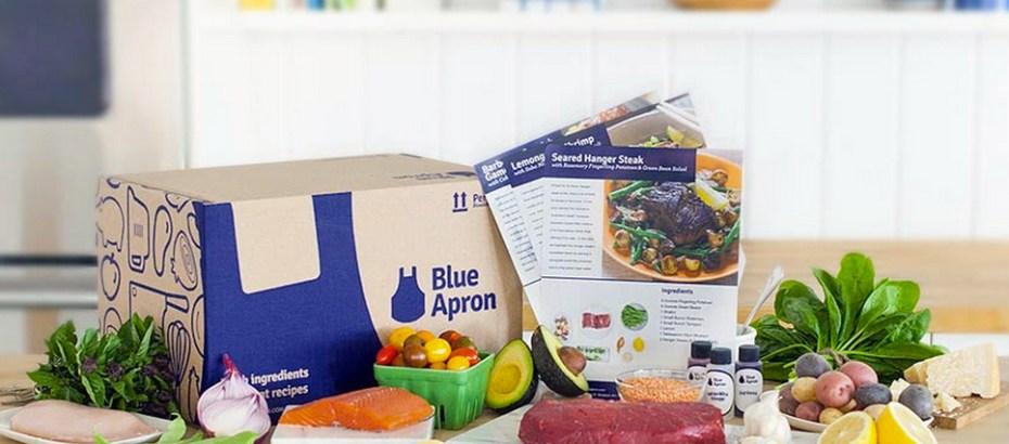 "A Blue Apron ""meal kit."""