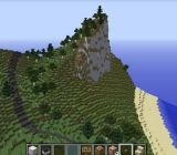 The Danish shoreline in Minecraft.