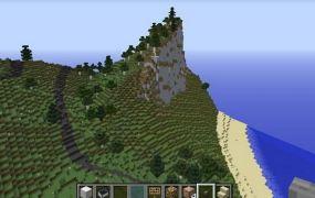 The Danish shoreline in Minecraft.