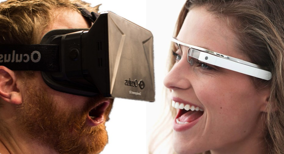 Google Glass vs. Oculus Rift.