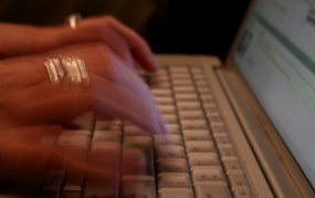 Fingers typing Chris Flickr