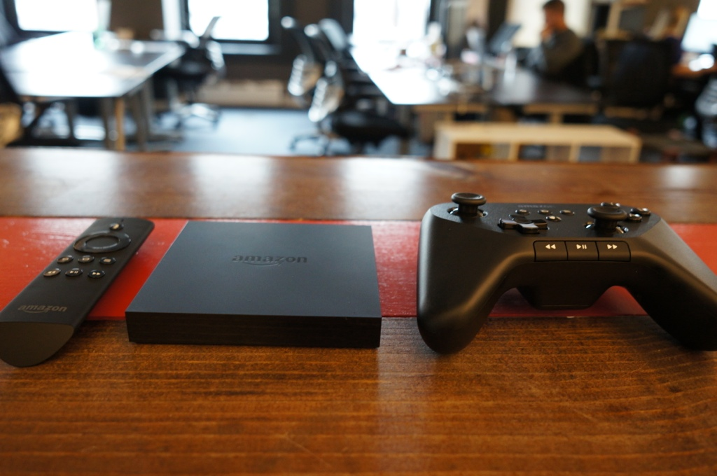Amazon's Fire TV with the game controller.