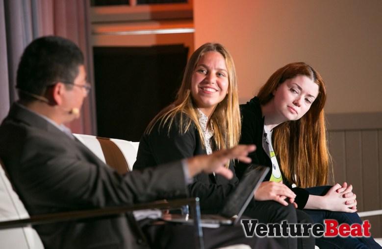 Dean Takahashi, Maria Alegre, and Diana Moldovsky at the Mobile Summit