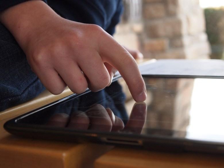 iPad finger Brad Flickinger Flickr
