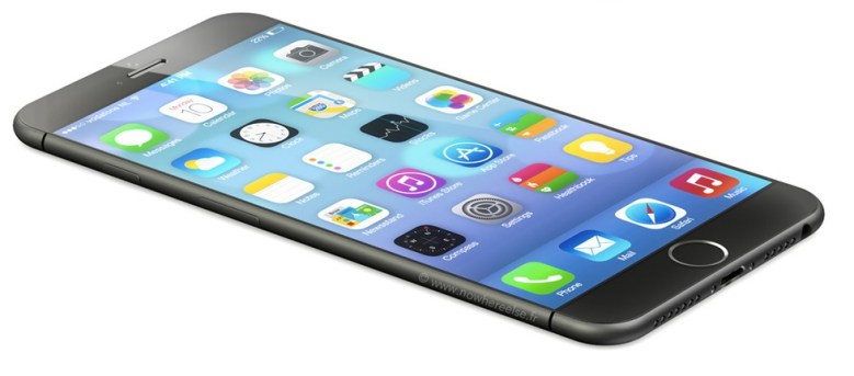 An iPhone 6 mockup based on leaked schematics