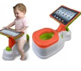 You can actually buy this iPotty for $35 at Target. (Tablet not included.)