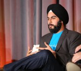 Ampush chief Jesse Pujji talks at the 2014 Mobile Summit in Sausalito, Calif.