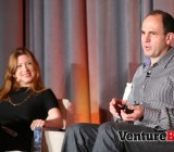 Keith Rabois, right, a venture capitalist at Khosla Ventures, speaks at VentureBeat's Mobile Summit in Sausalito, Calif., on April 15.