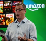 Amazon VP Peter Larsen showing off the Kindle Fire TV