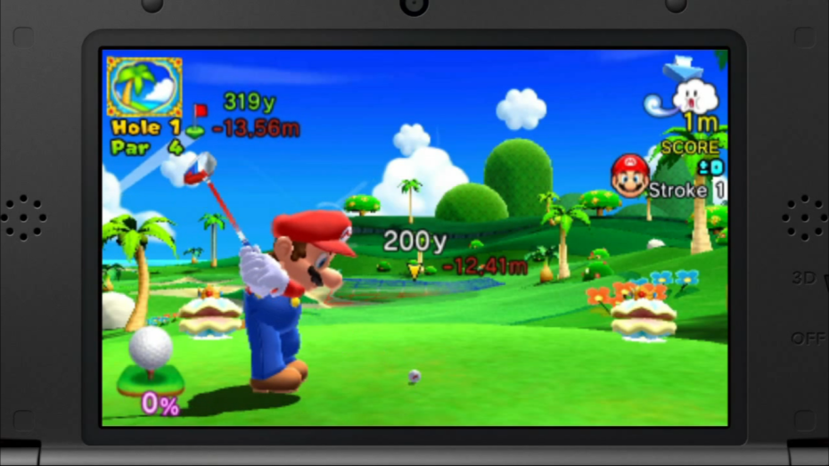 Mario Golf: World Tour for the 3DS is due out May 2.