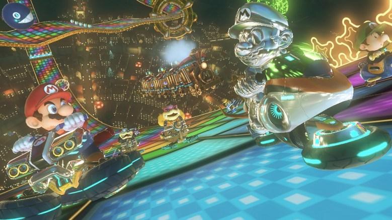 No, those aren't landspeeders. Mario Kart 8 had anti-grav karts now.