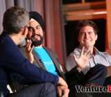 Matt Marshall of VentureBeat, Jesse Pujji of Ampush, and Peter Hamilton of HasOffers