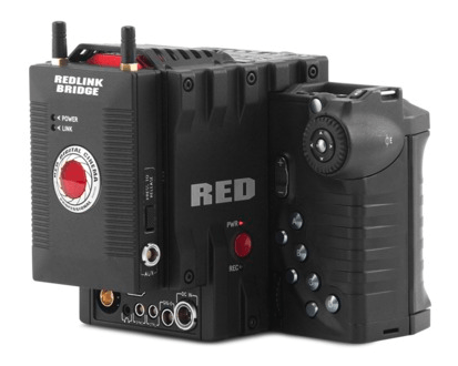 The REDLINK Bridge, mounted on a Red One camera