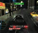 A screenshot from True Crime: Streets of L.A., which featured an accurate map of the city.