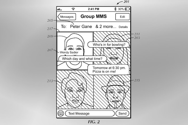 Apple messages dynamic UI patent