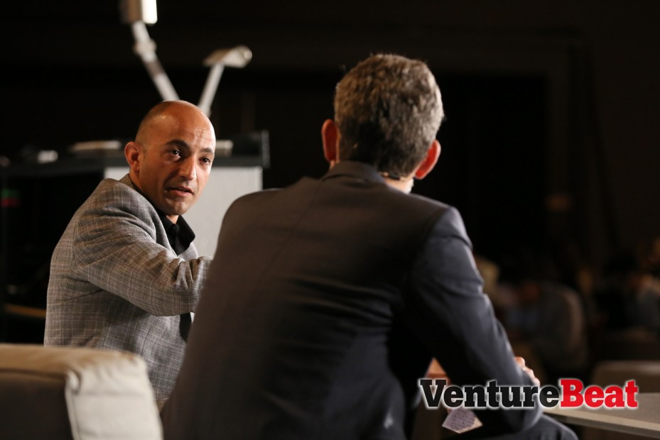 Bruno Aziza, chief marketing officer at Alpine Data Labs, speaks with VentureBeat founder and chief executive Matt Marshall at VentureBeat's DataBeat conference in San Francisco today.