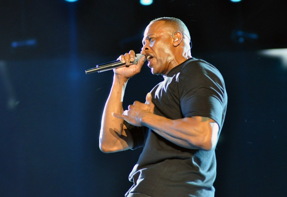 Dr. Dre performs at Coachella 2012.